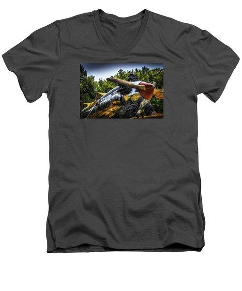Static And Shiny Men's V-Neck T-Shirt