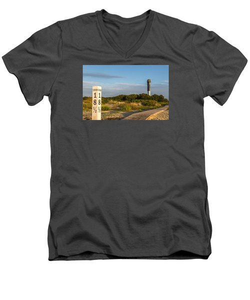 Men's V-Neck T-Shirt featuring the photograph Station 18 1/2 On Sullivan's Island by Donnie Whitaker