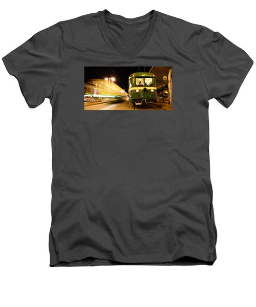 Men's V-Neck T-Shirt featuring the photograph Stationary by Steve Siri