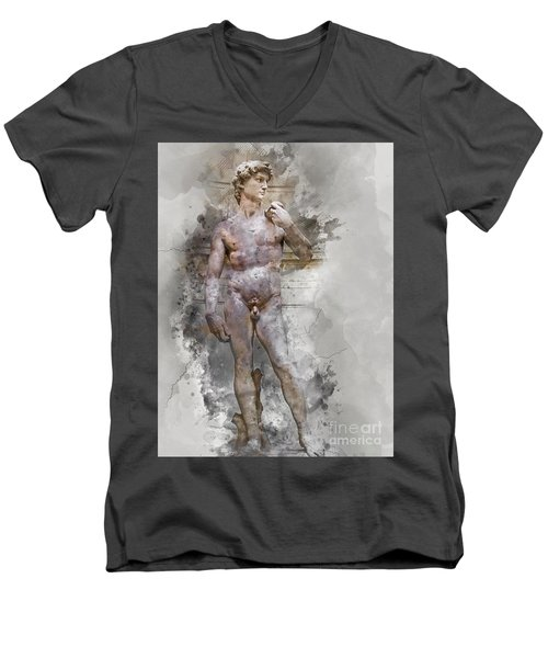 Statue Of David Men's V-Neck T-Shirt
