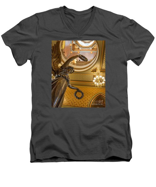 Statue Of Genius Vertical Men's V-Neck T-Shirt
