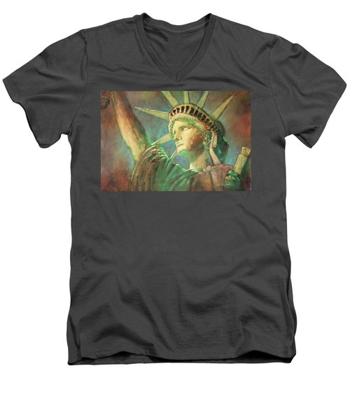 Statue Of Liberty 1 Men's V-Neck T-Shirt