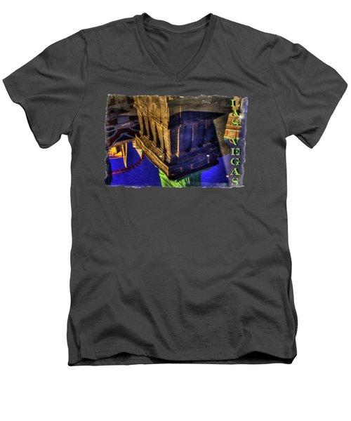 Statue Of Liberty Las Vegas Reflections Men's V-Neck T-Shirt by Roger Passman
