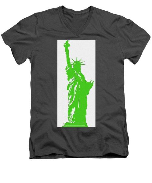 Statue Of Liberty No. 9-1 Men's V-Neck T-Shirt