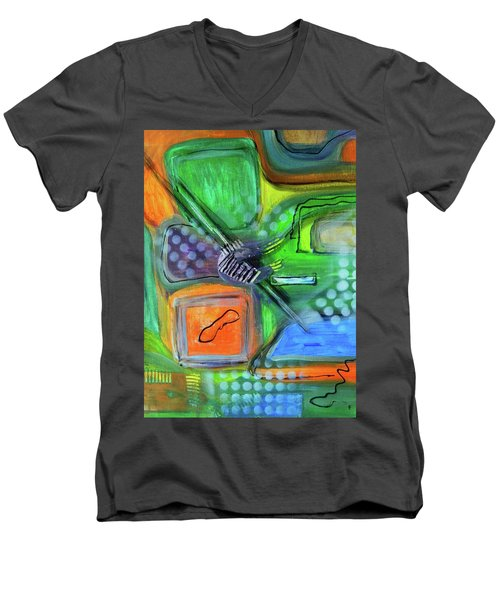 Stay In The Game Men's V-Neck T-Shirt by Everette McMahan jr