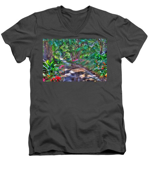 Men's V-Neck T-Shirt featuring the photograph Stay On Your Path by TC Morgan