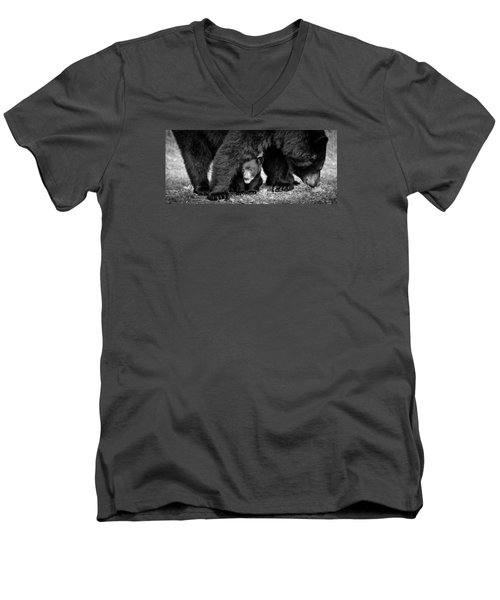 Staying Close-bw Men's V-Neck T-Shirt