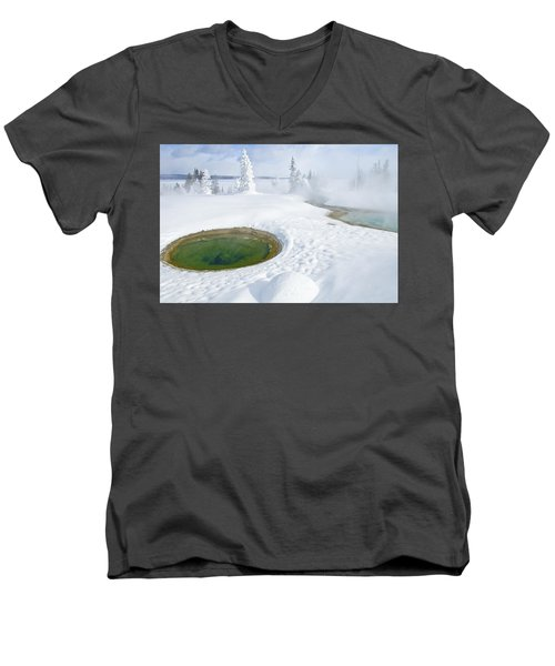Steam And Snow Men's V-Neck T-Shirt