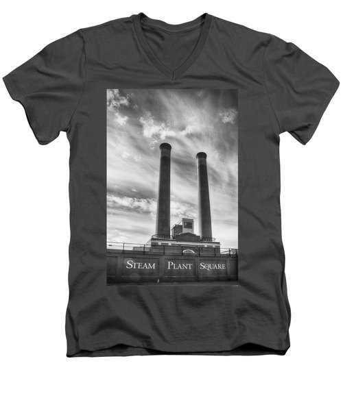 Steam Plant Square Men's V-Neck T-Shirt