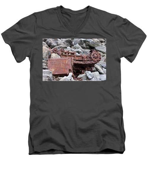 Steam Shovel Number One Men's V-Neck T-Shirt by Kandy Hurley