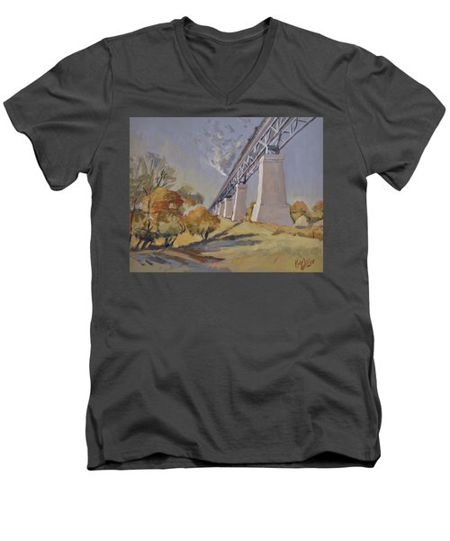 Steam Train Moresnet Men's V-Neck T-Shirt