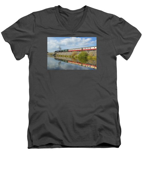Steam Train Reflections Men's V-Neck T-Shirt