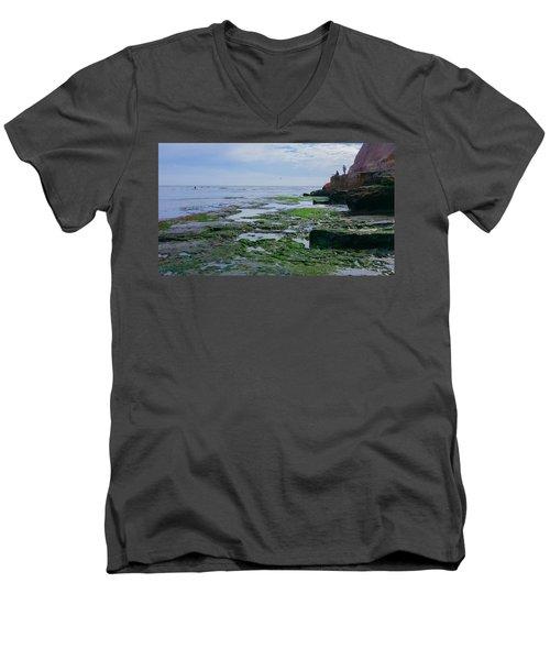 Steamer Lane Santa Cruz Men's V-Neck T-Shirt by Mark Barclay