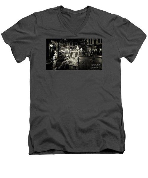 Steamin' Johnny Men's V-Neck T-Shirt
