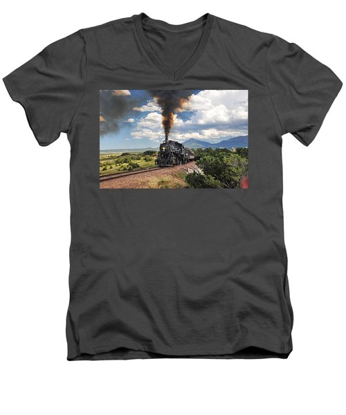 Steaming Towards La Veta Men's V-Neck T-Shirt