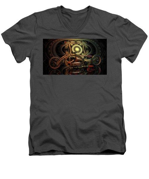 Steampunk Chopper Men's V-Neck T-Shirt