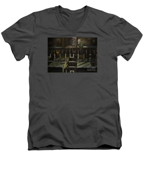 Steampunk Factory Men's V-Neck T-Shirt by Melissa Messick