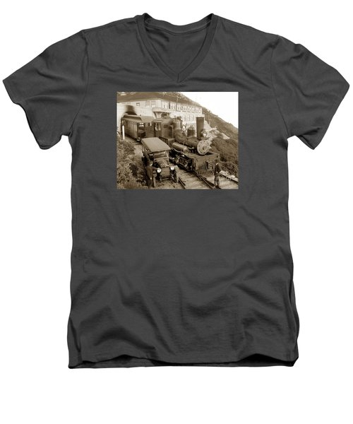 Stean Engine No. 8 Mount Tamalpais Circa 1920 Men's V-Neck T-Shirt