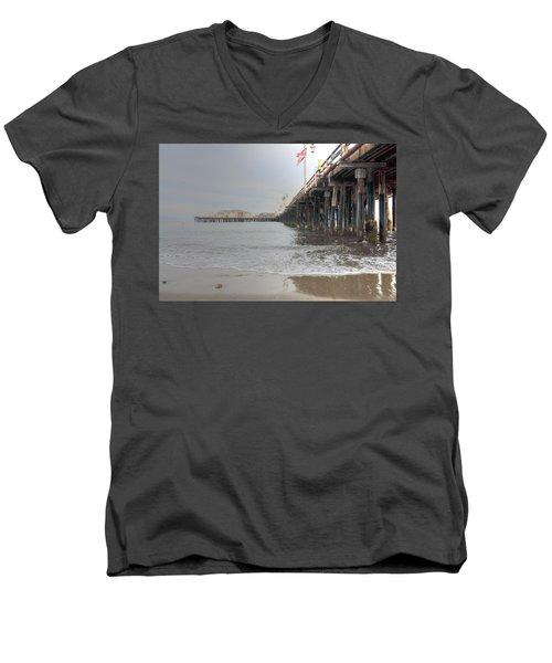 Stearn's Wharf Flag Men's V-Neck T-Shirt