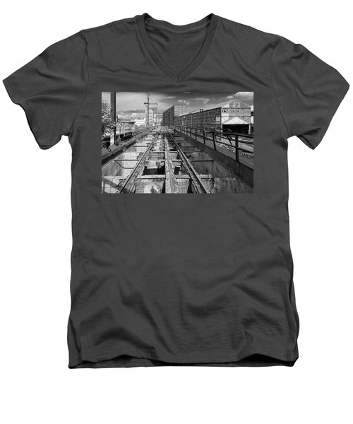 Steelyard Tracks 1 Men's V-Neck T-Shirt