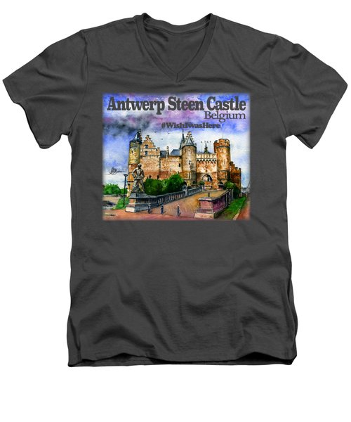 Steen Castle Antwerp Men's V-Neck T-Shirt