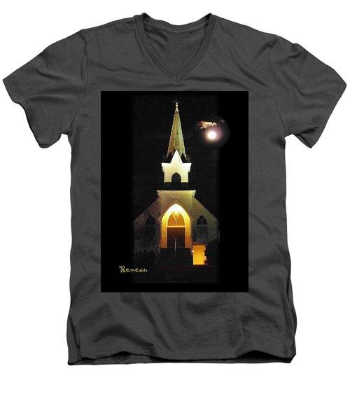 Steeple Chase 3 Men's V-Neck T-Shirt by Sadie Reneau