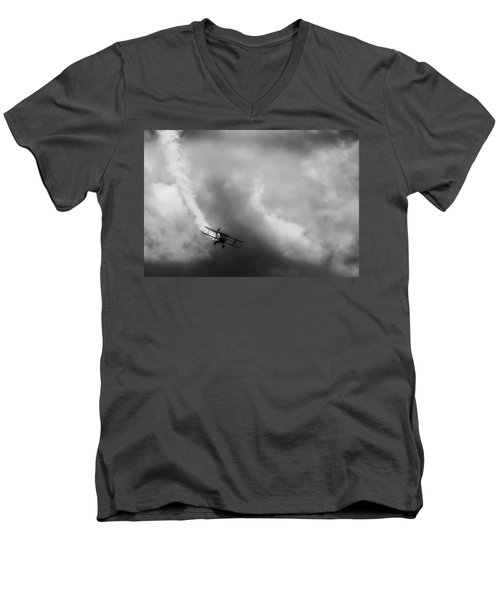 Men's V-Neck T-Shirt featuring the photograph Steerman by Michael Nowotny