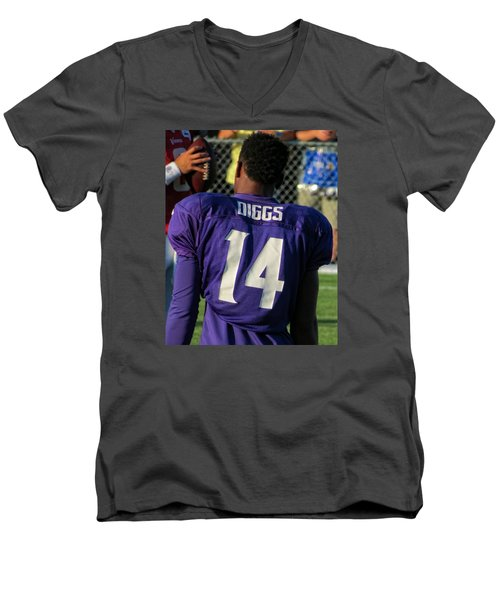 Stefon Diggs Men's V-Neck T-Shirt by Kyle West