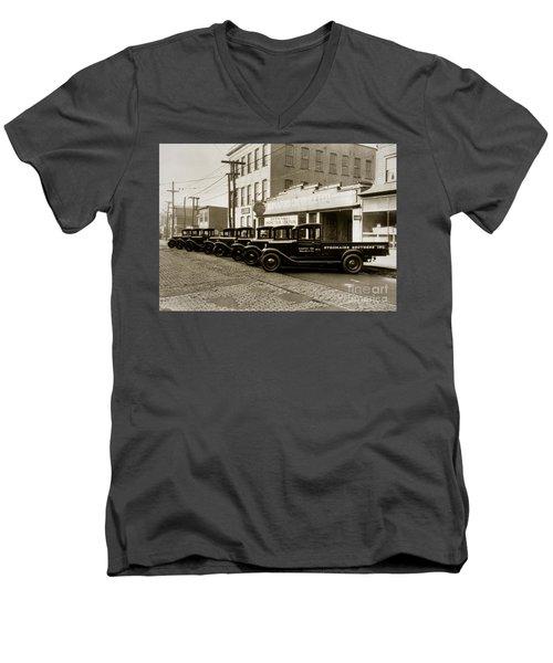 Stegmaier Brothers Inc Beer Trucks At 693 Hazle Ave Wilkes Barre Pa 1930s Men's V-Neck T-Shirt