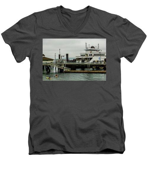 Steilacoom Ferry,washington State Men's V-Neck T-Shirt