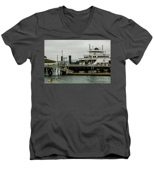 Steilacoom Ferry,washington State Men's V-Neck T-Shirt