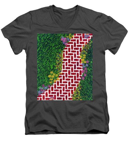 Step Into My Garden Men's V-Neck T-Shirt