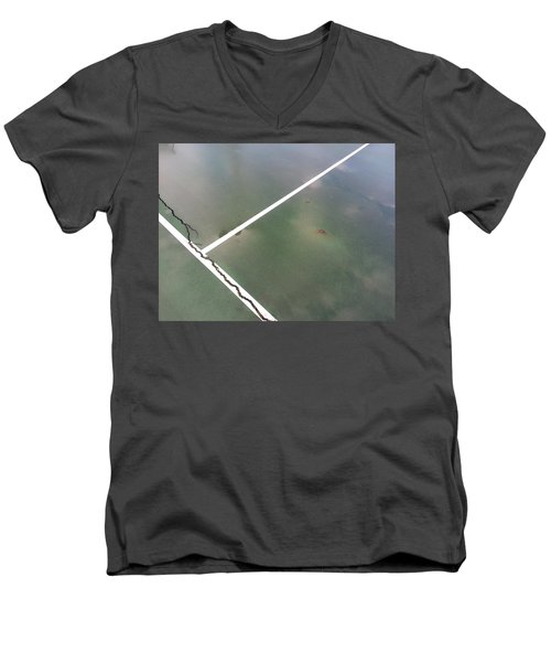Men's V-Neck T-Shirt featuring the photograph Step On A Crack... by Robert Knight