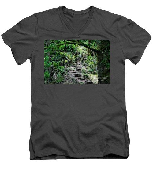 Step On Up Men's V-Neck T-Shirt