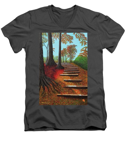 Almost There Men's V-Neck T-Shirt by Donna Manaraze