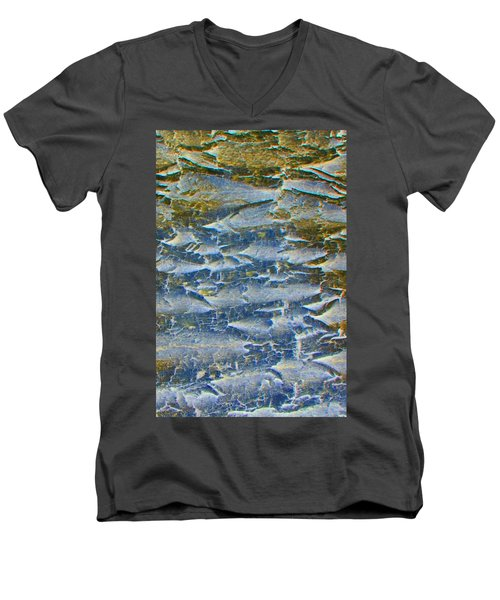 Men's V-Neck T-Shirt featuring the photograph Stepping Stones by Lenore Senior