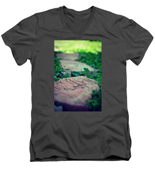 Stepping Stones Men's V-Neck T-Shirt by Artists With Autism Inc