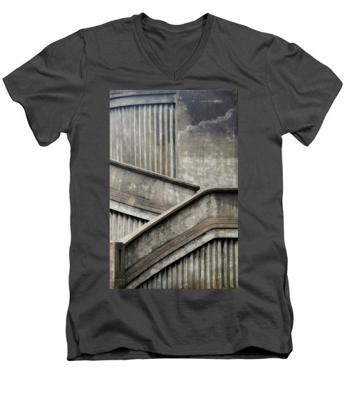 Steps Men's V-Neck T-Shirt by Newel Hunter