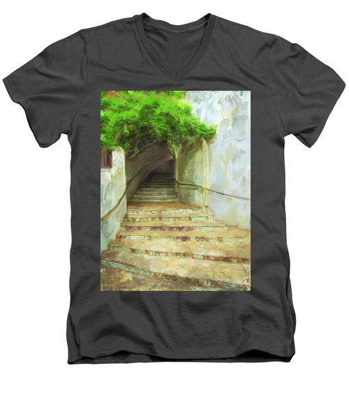Steps To La Villita Men's V-Neck T-Shirt
