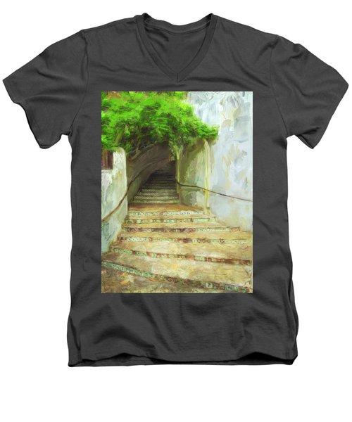 Steps To La Villita Men's V-Neck T-Shirt