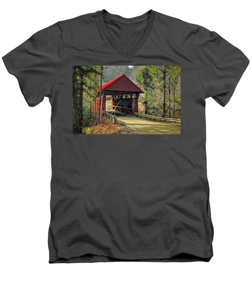 Sterling Covered Bridge Men's V-Neck T-Shirt