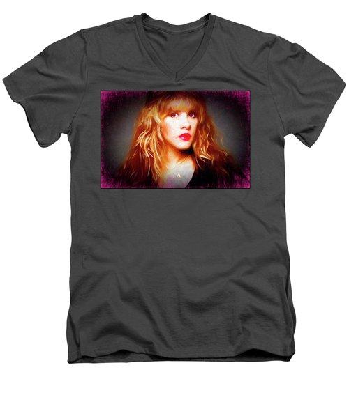 Stevie Nicks Drawing Men's V-Neck T-Shirt