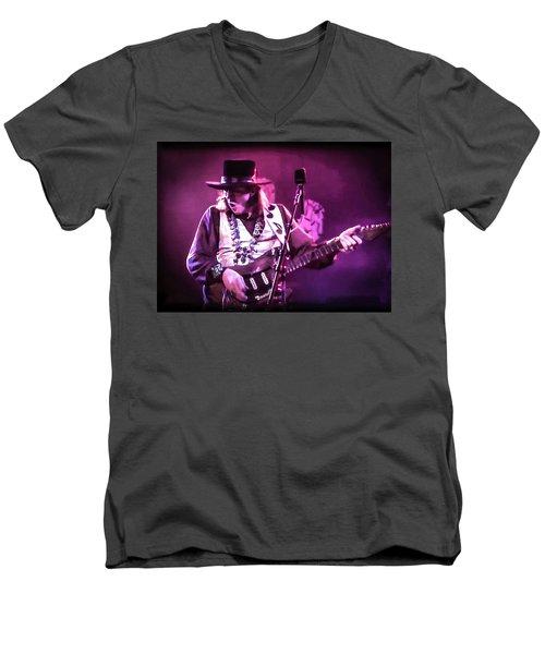 Stevie Ray Vaughan - Change It Men's V-Neck T-Shirt