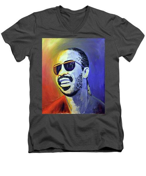 Stevie Wonder Men's V-Neck T-Shirt