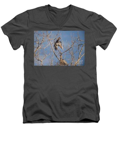 Men's V-Neck T-Shirt featuring the photograph Stick Acceptance by David Bearden