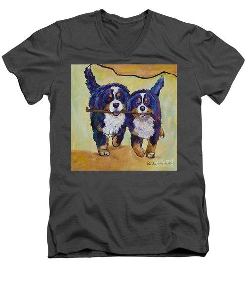 Stick Together Men's V-Neck T-Shirt