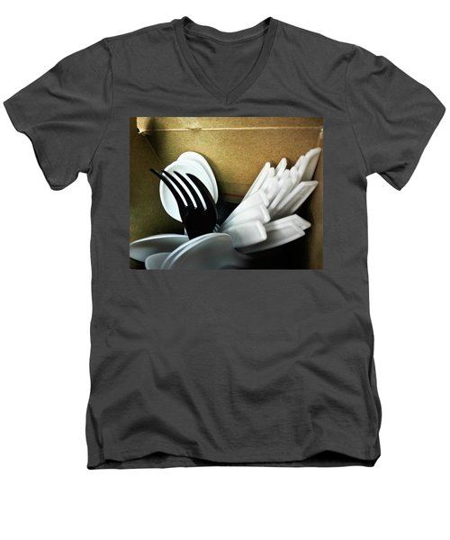 Men's V-Neck T-Shirt featuring the photograph Stickin Out by Robert Knight