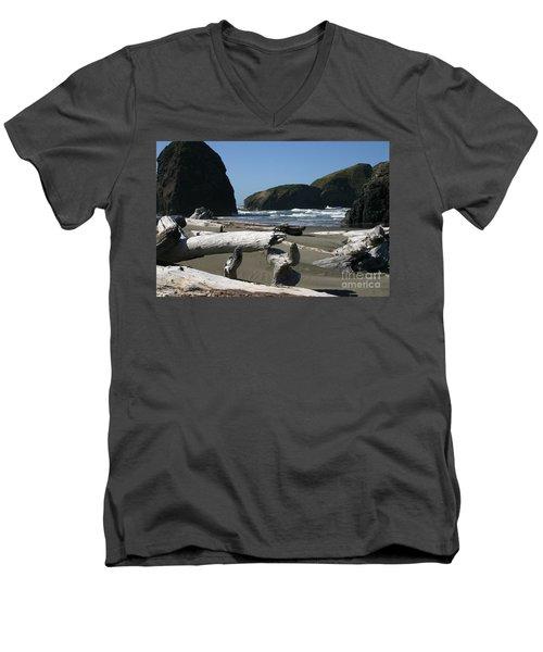 Sticks And Stones Men's V-Neck T-Shirt by Marie Neder