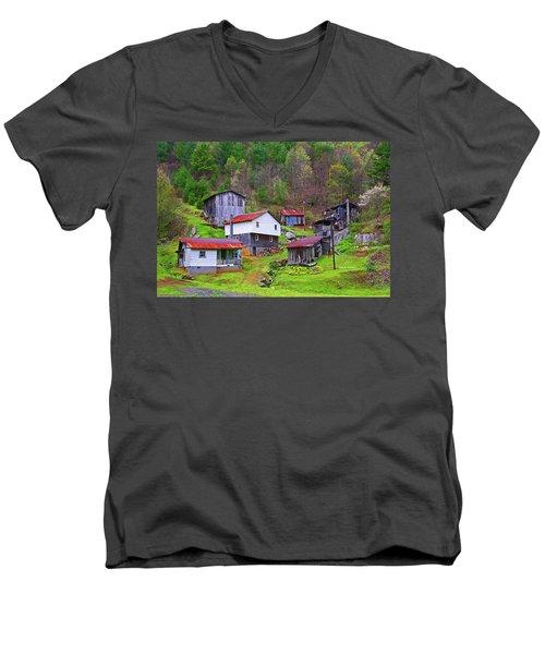 Stike Holler Men's V-Neck T-Shirt