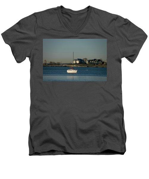 Still Boat Men's V-Neck T-Shirt
